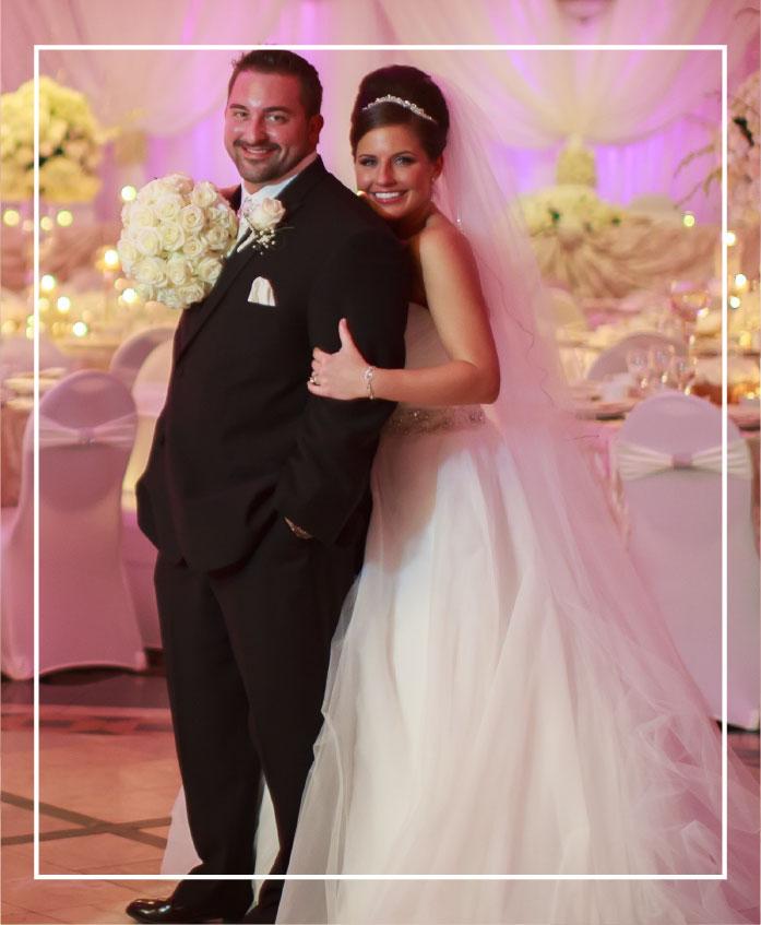 bride and groom at a detroit wedding venue