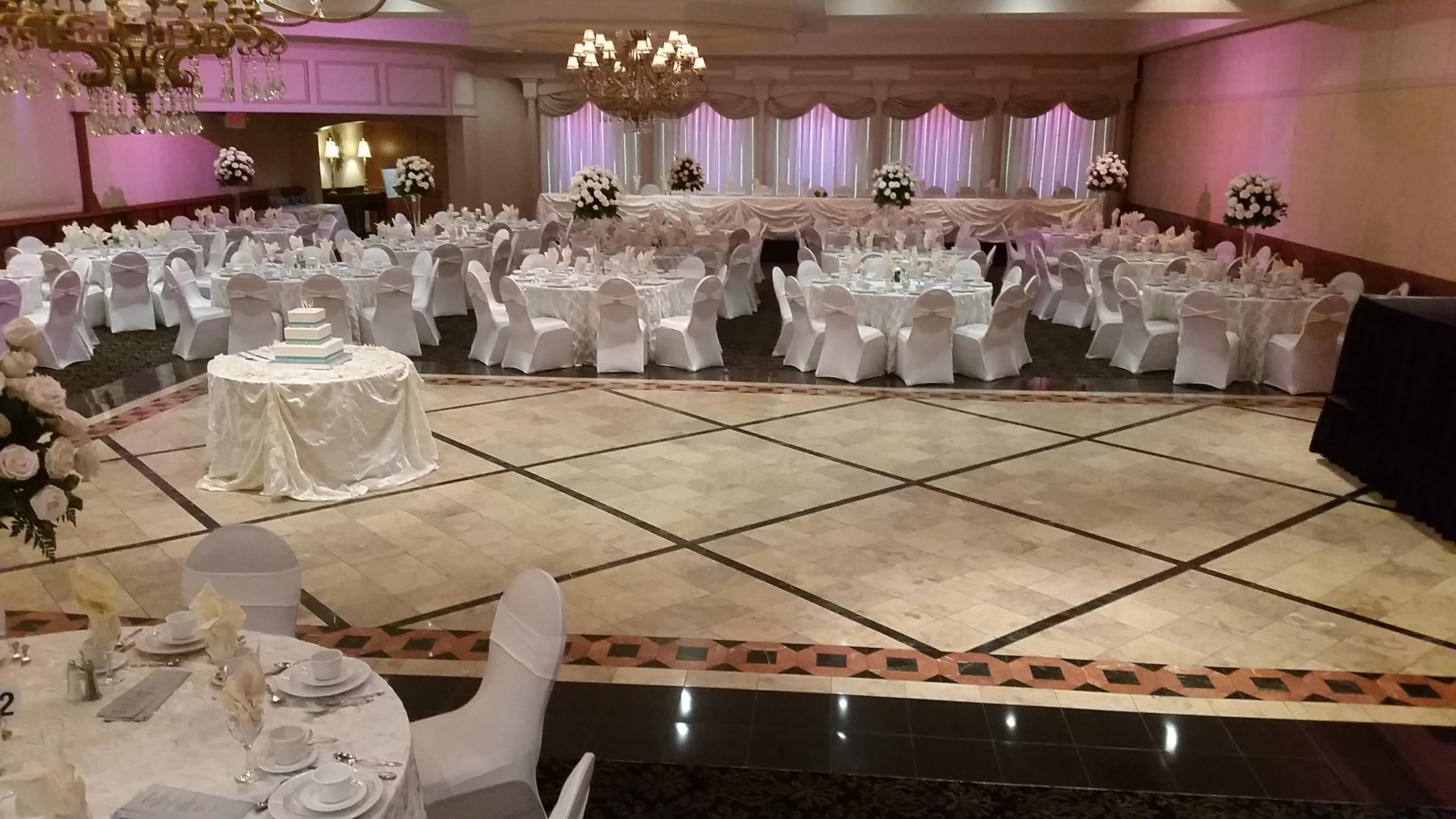 wedding banquet hall dance floor