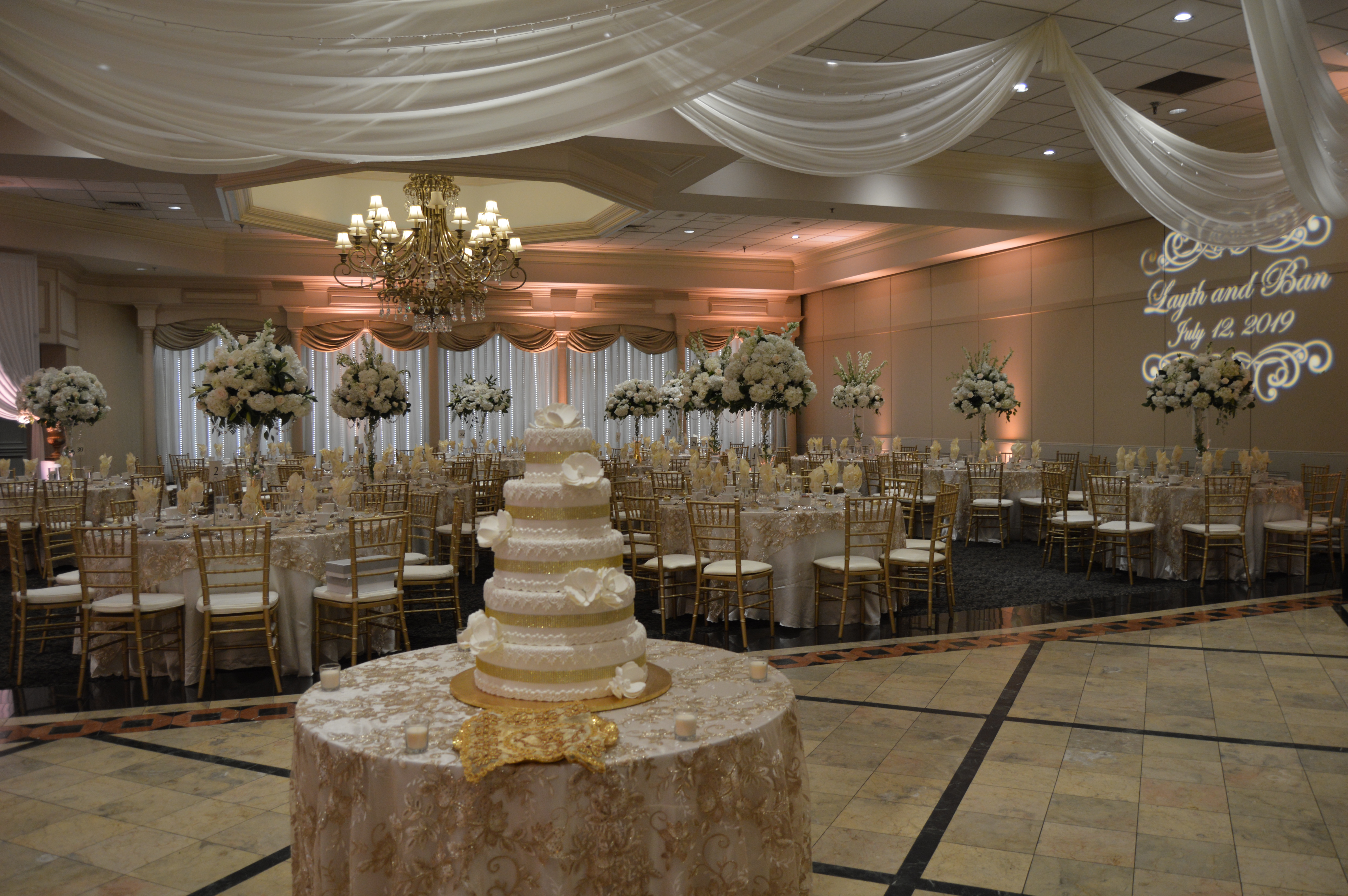 beautiful wedding reception in detroit