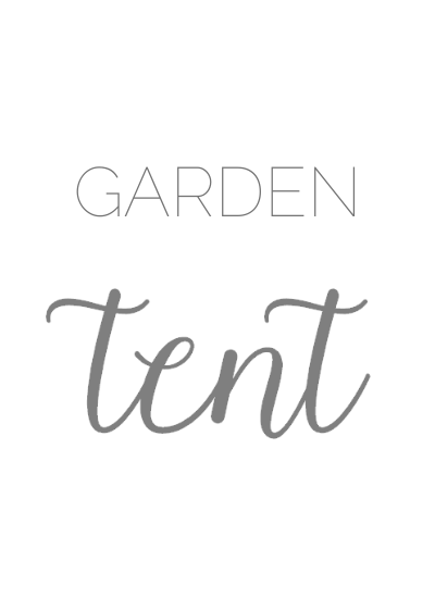 box that says garden tent