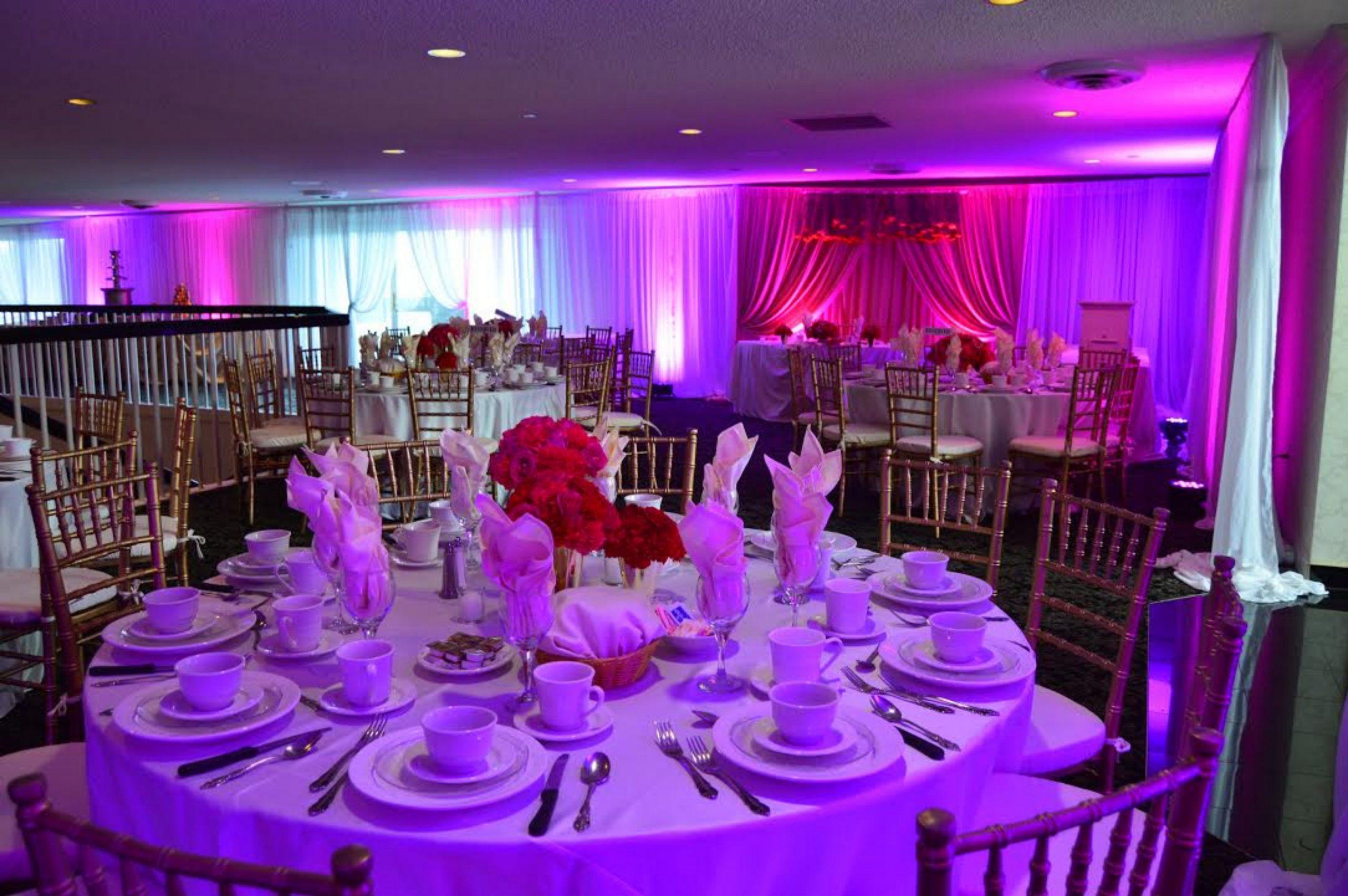dj station at wedding reception
